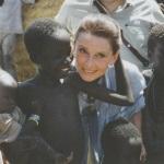 Audrey Hepburn in 1989 in Soedan.