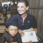 Audrey Hepburn in 1990 in Vietnam.