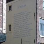 Muurgedicht in Leiden
